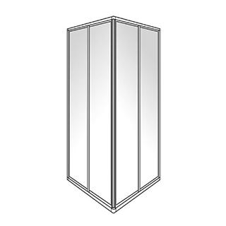 Eckeinstieg Duscholux Optima 300, Gleittüren 2-teilig, Höhe 190 cm, 80 x 80 cm