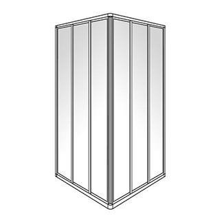 Eckeinstieg Duscholux Optima 300, Gleittüren 3-teilig, Höhe 190 cm, 100 x100 cm