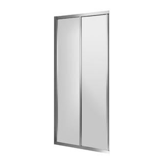 Gleittüre Duscholux Optima 5 für Eckeinstieg, Breite 80 cm Höhe 200 cm Festteil links