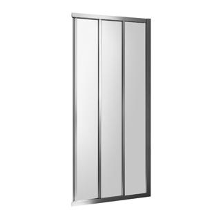 Gleittüre Duscholux Optima 5 für Eckeinstieg, Breite 100 cm Höhe 200 cm Festteil rechts