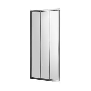 Gleittüre Duscholux Optima 5 für Eckeinstieg, Breite 110 cm Höhe 200 cm Festteil links