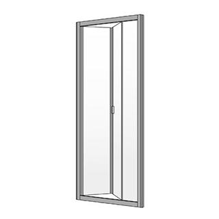 gleitfaltt re koralle s400 2 teilig h he 200 cm breite 78. Black Bedroom Furniture Sets. Home Design Ideas