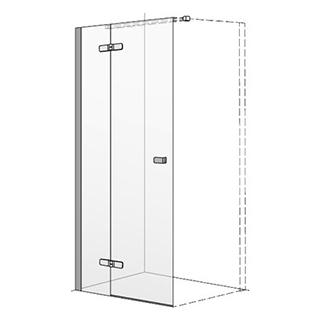 Flügeltüre Koralle S500 Band rechts, Höhe 200 cm Breite 118,5 - 120 cm (Nische 118,5 - 1...