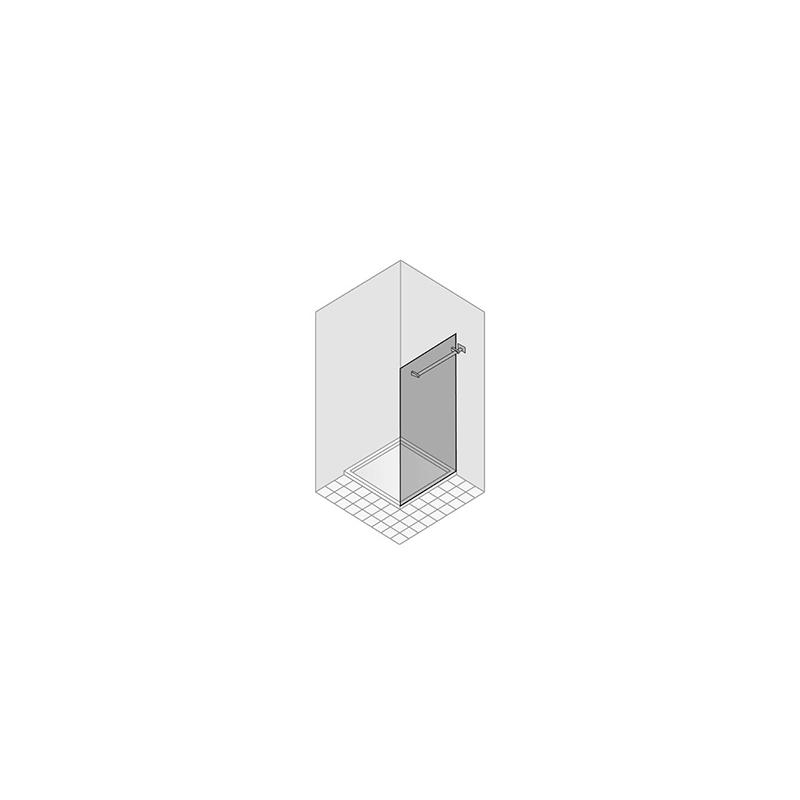 seitenwand freistehend duka libero 4000 band rechts h he 200 cm. Black Bedroom Furniture Sets. Home Design Ideas
