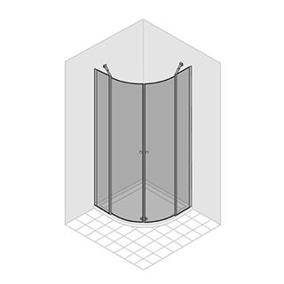 eckeinstieg duka multi s 4000 viertelkreis h he 195 cm 90 x 90. Black Bedroom Furniture Sets. Home Design Ideas