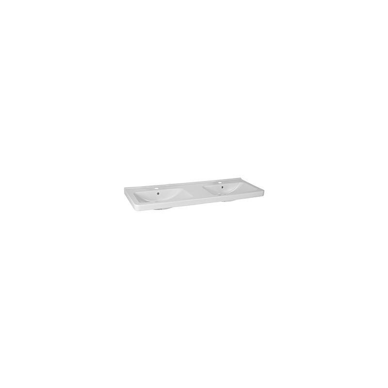 doppelwaschtisch alterna cubito 130 x 48 5 cm 2 armaturenl cher ne 501 20 chf. Black Bedroom Furniture Sets. Home Design Ideas