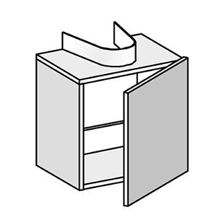 waschtischm bel alterna universal breite 40 cm h he 40 cm. Black Bedroom Furniture Sets. Home Design Ideas