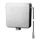 Spülkasten Geberit Kettenzug, Wasseranschluss seitlich (wechselbar), Montage hochhängend