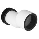 Ablaufmanschette exzentrisch D. 90 mm, zu Sanitärmodul Monolith, 30 mm abgesetzt