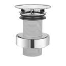 """Schaftventil Alape VT.3 1 1/4"""" für Stahlwaschtische ohne Überlauf, Haube D. 74 mm"""
