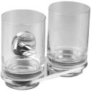 Doppelglashalter Alterna rondo 2 Klargläser zylindrisch