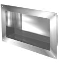 Wandnische IN-BOX, Typ F Breite 63 cm, Höhe 33 cm Tiefe 12 cm, Edelstahl Befestigungsmat...