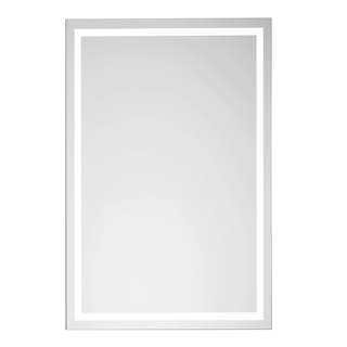 lichtspiegel euraspiegel breite 45 cm h he 70 cm led beleuchtun. Black Bedroom Furniture Sets. Home Design Ideas