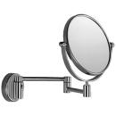 Kosmetikspiegel Inda D. 18 cm, Doppelspiegel eine Seite plan, eine Seite konkav, 2-armig...
