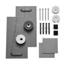 Spiegelbefestigungsset Haftbleche, Exzenterscheiben Magnete, Befestigungsmaterial für Sp...