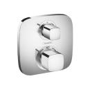 """Duschsystem Hansgrohe Ecostat E, Thermostat ½"""" 15,5 x 15,5 cm, 2 Abgänge mit Absperr- un..."""
