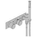 Duschenmischer-Endmontageset Vola 5000, Thermostat Betätigungsgriff, Handbrause Metallsc...
