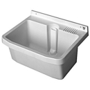 Waschtrog Romay Trend 54,6 x 46 cm Standrohrventil...