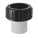 Stutzen mit Verschraubung Geberit, zum Einkleben in PVC-Muffen Ø 56 / 63 mm