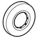 Wandrosette 40 mm, zu Sifon Geberit, Kunststoff (241.406)