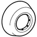 Wandrosette 40 mm, tief zu Sifon Geberit, Kunststoff (241.508)