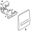 Abdeckplatte Edelstahl, mit Electronic IR zu Urinoir- steuerung Geberit-IR (240.841.00.1)