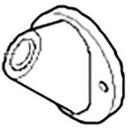 Deckrosette zu Spülkastenbetätigung pneumatisch-elektrisch (892.605.00.1)