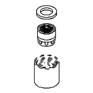 Luftsprudler M 18 x 1 zu Einlocharmaturen Dornbracht (90.23.01.025.00)