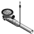 Raumspar-Stösselventil Franke Integral mit Überlaufanschluss, mit Kabelzug 600 mm