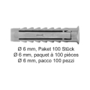 Nylondübel SX Ø 6 mm, Paket 100 Stück
