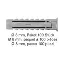 Nylondübel SX Ø 8 mm, Paket 100 Stück