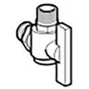 UR 1-Liter Eckventil für Urinoir Lema Infrarot Batterie / Netz Baujahr 2005 - 2013