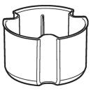 Sifonbecher für Sifonierhöhe 50 mm, zu Duschwannenablauf Ø 90 mm (243.572.00.1)
