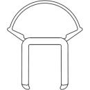 Senkrechte Dichtung lin Serie 332, Länge 180 cm, zu  Badewannentrennwand (251097)