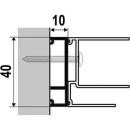 Verbreiterungsprofil costa10 mm, Höhe 2000 mmzu 1541 405 - 418421 -468 / 481 - 520