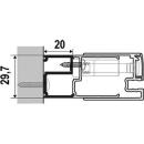 Verbreiterungsprofil costa20 mm, Höhe 2000 mmzu 1541 441 - 448471 - 478 (DS-PR3)