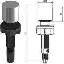 Drehknopf, passend zu Ø 18 / 22 mm, für Stösselventil Niederbauweise (133.0301.720)