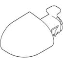 Abdeckkappen-Set für Anschluss19.5 cm, zu Dusch-KlosettKeramik Laufen Navia(8.9560.2....