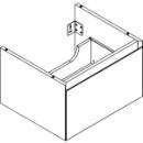 Waschtischmöbel Alterna zeroplus, Breite 56,9cm, Höhe 35cmTiefe 48,2 cm1 Schublade