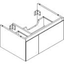 Waschtischmöbel Alterna zeroplus, Breite 71,9cm, Höhe 35cmTiefe 48,2 cm2 Schubladen