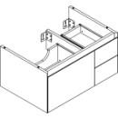 Waschtischmöbel Alterna zeroplus, Breite 71,9cm, Höhe 35cmTiefe 48,2 cm3 Schubladen
