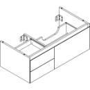 Waschtischmöbel Alterna zeroplus, Breite 96,9cm, Höhe 35cmTiefe 48,2 cm3 Schubladen