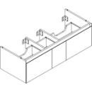 Waschtischmöbel Alterna zeroplus, Breite 121,9cm,Höhe 35cmTiefe 48,2 cm3 Schubladen