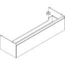 Waschtischmöbel Alterna zeroplus, Breite 146,9cm,Höhe 35cmTiefe 48,2 cm1 Schublade