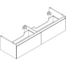 Waschtischmöbel Alterna zeroplus, Breite 146,9cm,Höhe 35cmTiefe 48,2 cm2 Schubladen