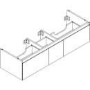 Waschtischmöbel Alterna zeroplus, Breite 146,9cm,Höhe 35cmTiefe 48,2 cm3 Schubladen