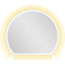 Lichtspiegel EuraspiegelOscar LEDhalbrundes Designb x h = 70 x 60 cm