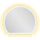 Lichtspiegel EuraspiegelOscar LEDhalbrundes Designb x h = 80 x 70 cm