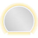 Lichtspiegel EuraspiegelOscar LEDhalbrundes Designb x h = 90 x 80 cm