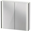Spiegelschrank Duravit XViuSensor, Schwarz MattB x H x T82 x 80 x 15,6 cm